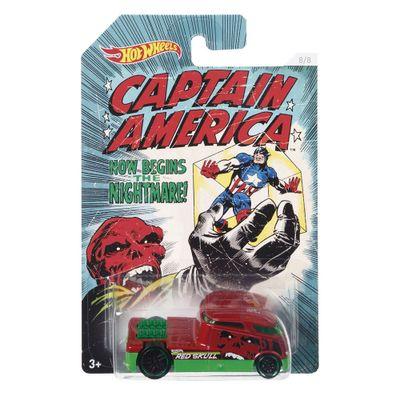 Carrinho-Hot-Wheels-Colecionavel---Serie-Marvel-Capitao-America---Red-Skull---Qombee---Mattel