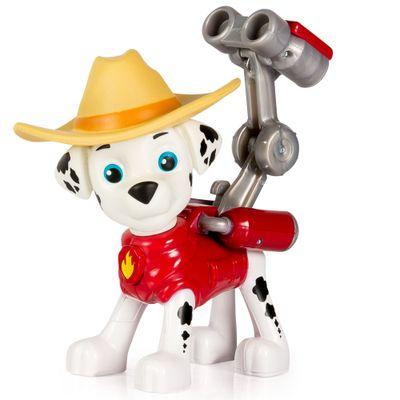 Mini-Figura-com-Mecanismo---Patrulha-Canina---Serie-Herois-Cowboys---Marshall---Sunny