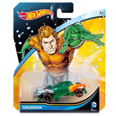Carrinho-Hot-Wheels---Personagens-DC-Comics---Aquaman---Mattel