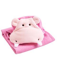 Toalha-Com-Bordado---Hipopotamo---Rosa---Belmar