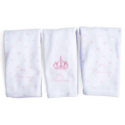 Conjunto-de-3-Pecas---Paninho-de-Boca-Bordado---My-Princess---Rosa---Belmar