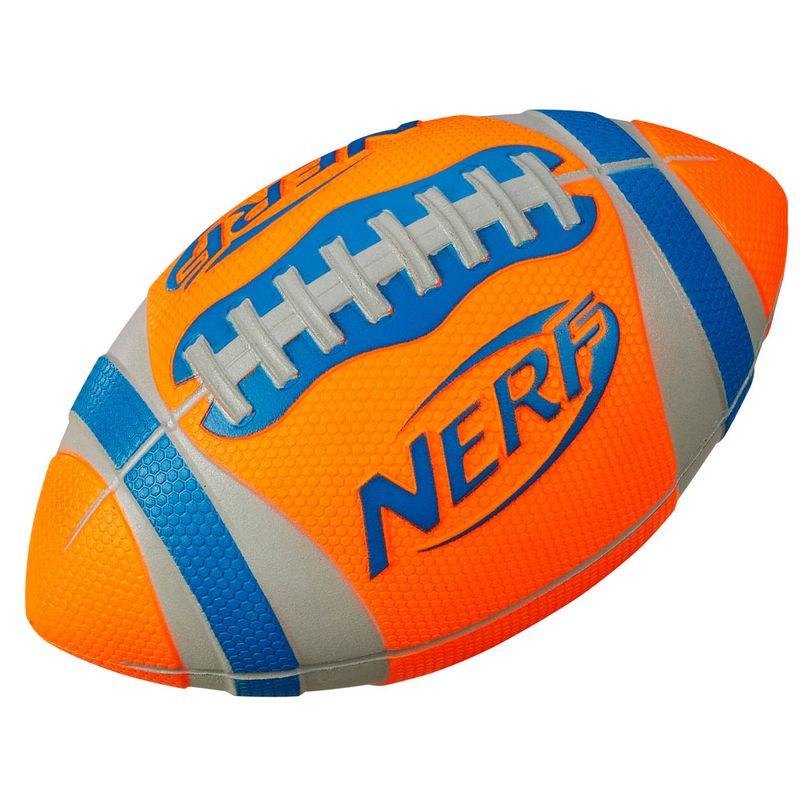 Bola de Futebol Americano - Nerf Sports - Laranja e Azul - Hasbro - Ri  Happy Brinquedos 3842a93701cf7