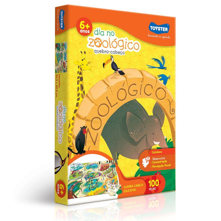 Quebra-Cabeca---Dia-no-Zoologico---100-Pecas---Toyster
