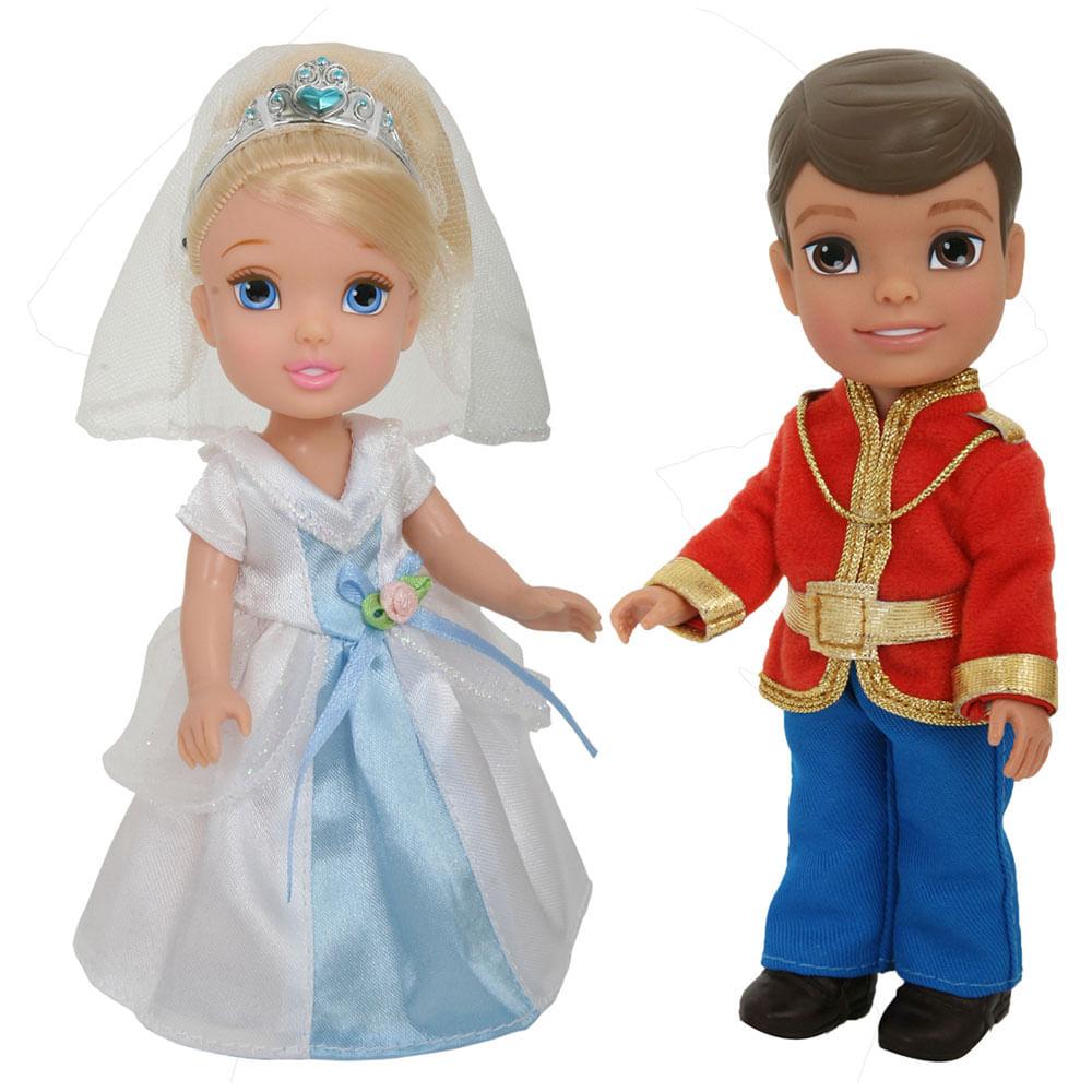Mini Bonecas - 15 Cm - Disney My First Princess - Casais Encantados - Cinderela e Principe Henry - New Toys