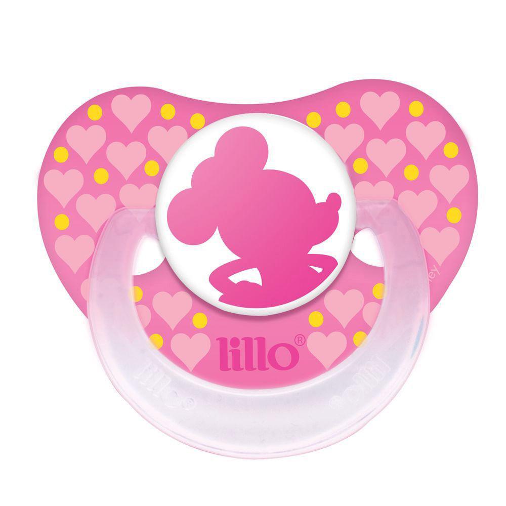 Chupeta Silicone Disney Baby Minnie - Fase 1 - Rosa - Lillo