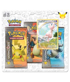 Deck-Pokemon---Blister-com-3-Unidades---Pokemon-Geracoes---Mew---Copag