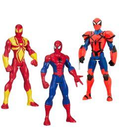 Exclusivo-Mega-Fabrica---Kit-com-Bonecos-Articulados---Marvel-Ultimate-Spider-Man---Iron-Spider---Spider-Knight-e-Classic-Spider-Man---Hasbro