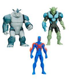 Exclusivo-Mega-Fabrica---Kit-com-Bonecos-Articulados---Marvel-Ultimate-Spider-Man---Duende-Verde---Rhino-e-Spider-Man-2099---Hasbro