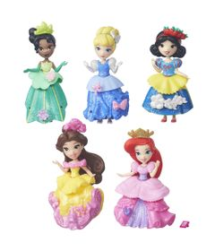 Conjunto-5-Mini-Bonecas---Disney-Princesas---Little-Kingdom---Hasbro