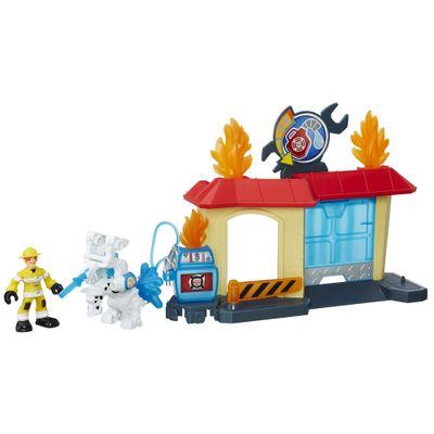 Playset-e-Mini-Figura-Transformavel---Playskool-Heroes--Transformers-Rescue-Bots---Garagem-de-Griffin-Rock---Hasbro