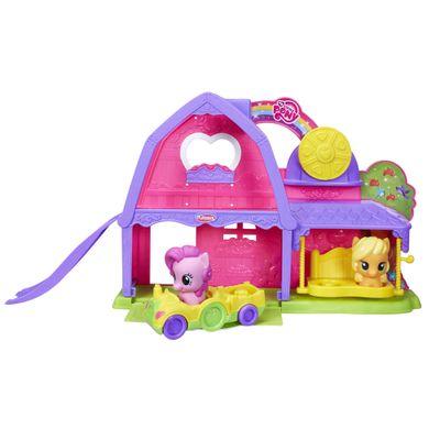 Playset-com-Veiculo-e-Figuras-Playskool---My-Little-Pony---Celeiro-de-Atividades-Applejack---Hasbro