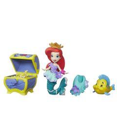 Mini-Boneca-com-Acessorios---Disney-Princesas---Little-Kingdom---Ariel-com-Bau-de-Tesouros---Hasbro