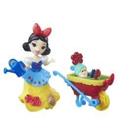 Mini-Boneca-com-Acessorios---Disney-Princesas---Little-Kingdom---Branca-de-Neve-com-Carrinho---Hasbro