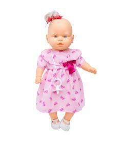 Boneca-Nina-Tagarela-com-Vestido-Rosa-e-Laco---Estrela