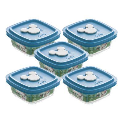 Conjunto-de-05-Potes---300-ml---Facilita-Baby---Tampa-Azul---Disney-Baby---Nadir-Figueiredo