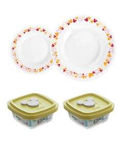 Conjunto-de-Pratos-e-Potes-Amarelos---300-ml---04-Pecas---Disney-Baby---Nadir-Figueiredo