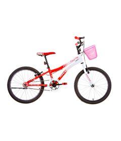 Bicicleta-Aro-20---Com-cesto---Nina---Vermelho-e-Branco---Houston