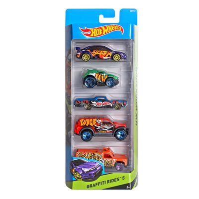 Carrinhos-Hot-Wheels---Pacote-com-5-Carros---Graffiti-Rides-5---Mattel
