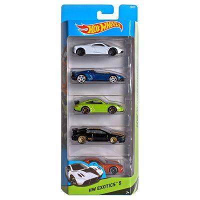 Carrinhos-Hot-Wheels---Pacote-com-5-Carros---New-HW-Exotics-5---Mattel