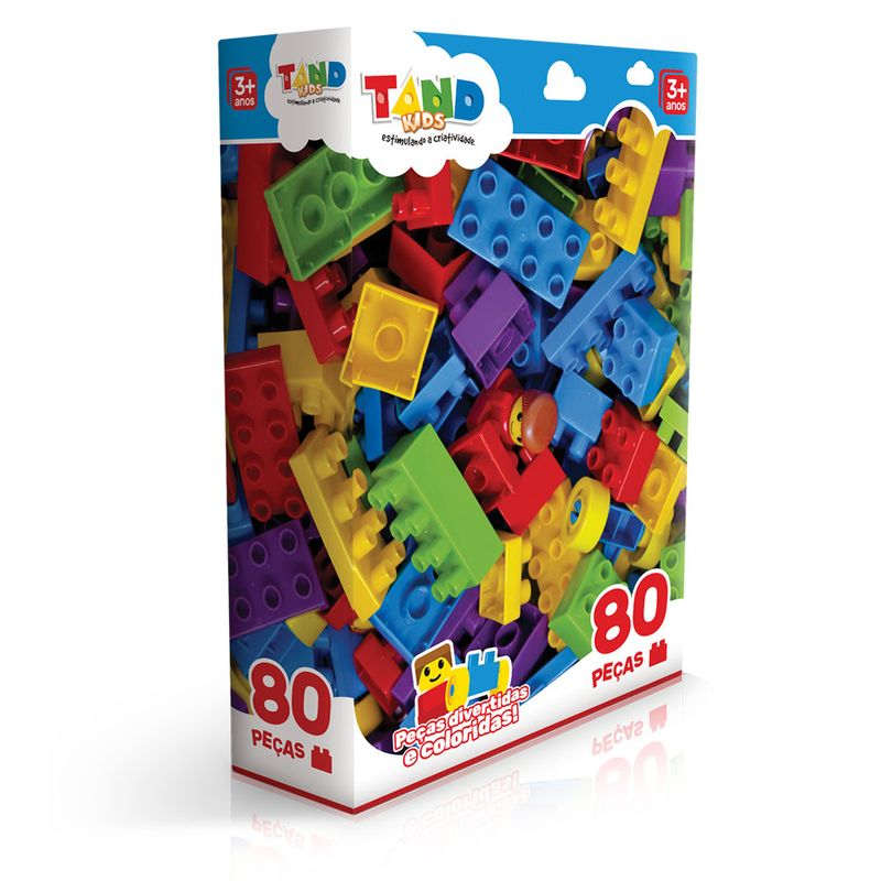 Blocos De Montar Tand Kids 80 Peças Toyster Ri Happy Brinquedos