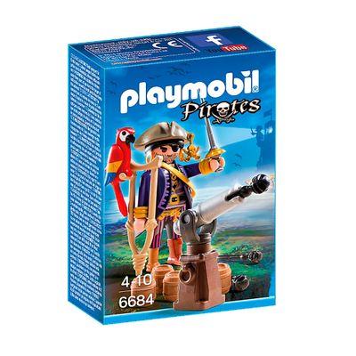 Playmobil---Pirates---Capitao-Pirata-com-Canhao---6684---Sunny