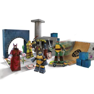 Playset---Kit-de-Montagem---As-Tartarugas-Ninja---90-Pecas---New-Toys