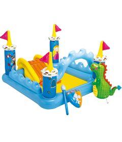 Piscina-Inflavel-com-Playground---Castelinho-e-Dragao---New-Toys