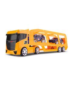 Caminhao-Cegonheira---com-2-carrinhos---Next-Race---Amarelo---Roma-Jensen
