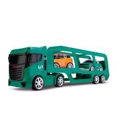 Caminhao-Cegonheira---com-2-carrinhos---Next-Race---Verde---Roma-Jensen