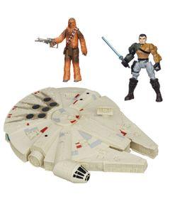 Kit-2-Bonecos---Veiculo---Star-Wars---Kanan-Jarrus-Hero-Mashers-de-15-cm-Chewbacca-Articulado-de-30-cm-e-Millenium-Falcon-de-25-cm---Hasbro