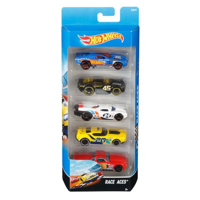 Carrinhos-Hot-Wheels---Pacote-com-5-Carros---Race-Aces---Mattel