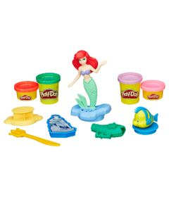 Massa-de-Modelar-com-Figura---Play-Doh---Princesas-Disney---Ariel---Hasbro