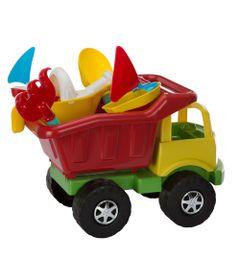 Carrinho-de-Praia---Super-Truck-com-Acessorios---Vermelho-e-Verde---Monte-Libano