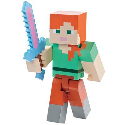 Figura-Minecrat---Alex-com-Armadura---Mattel