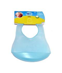 Babador-de-Plastico-com-Bolso---Azul---LOVE