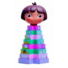 Blocos-de-Montar---Torre-Divertida---Dora-A-Aventureira---Multibrink