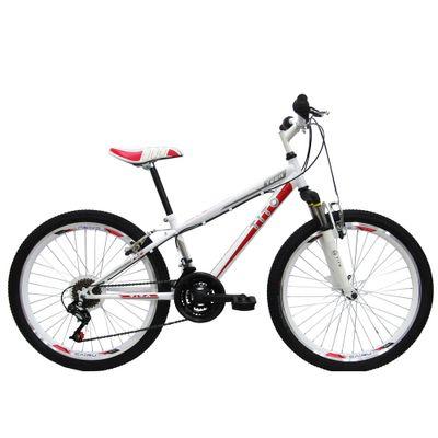 Bicicleta-ARO-24---MTB-Volt-Teen---Com-Suspensao---Branca-e-Vermelha---Tito-Bikes
