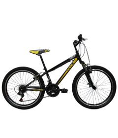 Bicicleta-ARO-24---MTB-Volt-Teen---Com-Suspensao---Preta-e-Amarela---Tito-Bikes