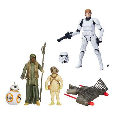 Kit-Figura-Colecionavel-Luke-Skywalker-e-Boneco-Articulado-com-Acessorios-BB8---Star-Wars---Hasbro