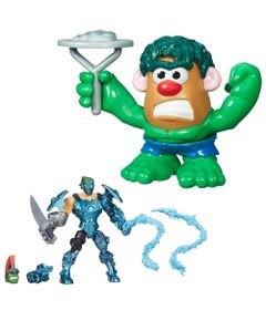 Kit-Boneco-Transformavel-15-cm-Whiplash-e-Mini-Figura-Transformavel-Hulk---Marvel---Hasbro
