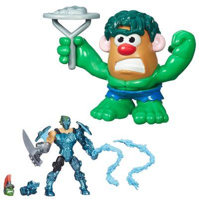 Kit-Boneco-Transformavel-15-cm-Whiplash-e-Mini-Figura-Transformavel-Hulk---Marvel---Hasbro