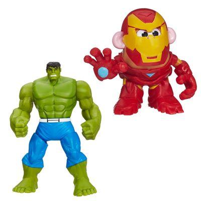 Kit-Mini-Figura-Transformavel---Mr.-Potato-Head-Homem-Aranha-e-Boneco-Amazing-Spider-Man---Electro---Marvel---Hasbro