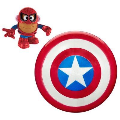 Kit-Escudo-Voador-Capitao-America-e-Mini-Figura-Transformavel---Mr.-Potato-Head---Homem-Aranha---Marvel---Hasbro