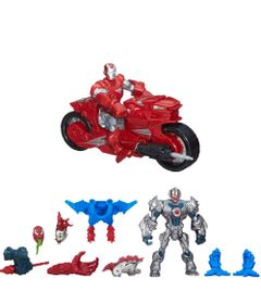 Kit-Boneco-Transformavel-com-Acessorios-Ultron-e-Carnage-com-Boneco-Hero-Mashers---Iron-Man-Hotshot-Hot-Rod---Marvel---Hasbro