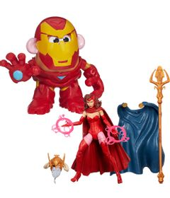 Kit-Boneco-Marvel-Legends-Capitain-Marvel-e-Mini-Figura-Mr.-Potato-Head---Iron-Man---Marvel---Hasbro