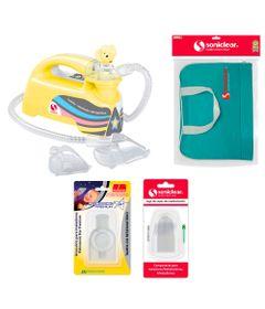 Kit-com-Bolsa-de-Transporte-e-Inalador-Nebulizador-Ultrassonico-Star-Premium-Amarelo-com-Acessorios---Soniclear