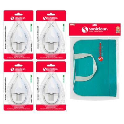 Kit-com-Bolsa-de-Transporte-para-Inalador-e-Nebulizador---Mascaras-e-Jogo-de-Copos---Soniclear