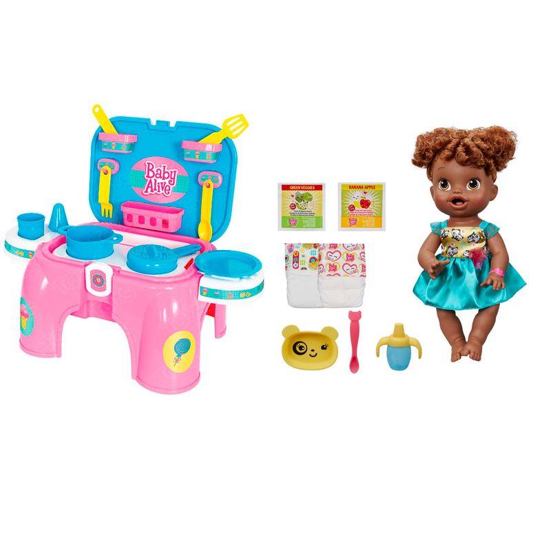 b33188dac0 Conjunto Boneca e Acessórios Baby Alive - Boneca Bebê Hora de Comer -  Hasbro com Kit de Cozinha - Cotiplás - Ri Happy Brinquedos