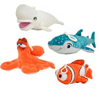 Conjunto-com-4-Pelucias-com-Clipe---Disney-Procurando-Dory---Nemo-Hank-Destiny-e-Bailey---Sunny