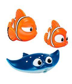 Conjunto-com-Brinquedos-de-Banho---15-cm---Disney---Procurando-Doy---Marlin---Nemo-e-Professor-Raia---Sunny